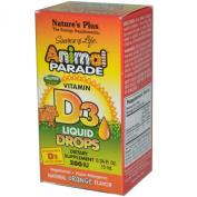 Nature's Plus, Source of Life, Animal Parade, Vitamin D3, Liquid Drops, Natural Orange Flavour, 0.34 fl oz