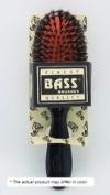 Brush - Medium Oval Cushion 100% Wild Boar / Nylon Bristle Black or Clear Acrylic Handle - 1 - Brush