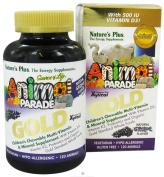 Nature's Plus Animal Parade Gold Children's Chewable Multi-Vitamin & Mineral Grape Flavour 120 Animals