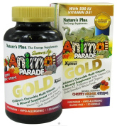 Nature's Plus, Animal Parade Gold, Children's Chewable Multi-Vitamin & Mineral, Assorted Flavours, 120 Animals