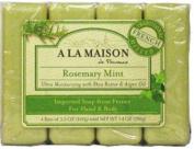A La Maison de Provence Bar Soap for Hand & Body, Rosemary Mint, 100ml, 4 Ct
