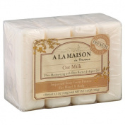 A La Maison de Provence Bar Soap for Hand & Body, Oat Milk, 100ml, 4 Ct