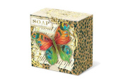 Punch Studio Beautiful Unique Pleat-Wrapped Boxed Soaps-Safari Butterfly 50044