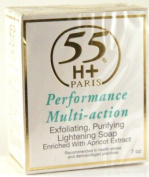 55H+ Performance Multi-Action Exfoliating Purifying Lightening Soap 210ml