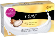 Olay Ultra Moisture Beauty with Shea Butter Bar Soap, 6 ct