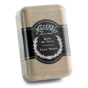 Mistral LlC Teak Wood Men's Bar Soap, 250 Gramme