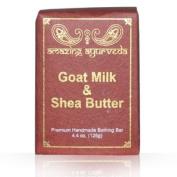 Amazing Ayurveda Premium Handmade Soap- Goat Milk & Shea Butter, 130ml