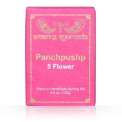 Amazing Ayurveda Premium Handmade- Panchpushp (Five Flower) Soap, 130ml