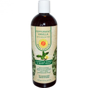 Peppermint Vanilla Liquid Soap Natural Sunfeather 470ml Liquid