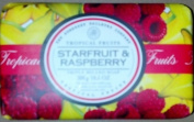 Tropical Fruits Starfruit & Raspberry Three Milled Soap