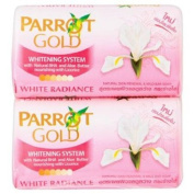 Parot Gold Whitening System Soap Bar For Clean Face And Body 80g X 4pcs.