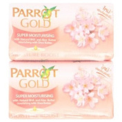 Parrot Gold Old Rose Colour Soap Bar For Clean Face And Body 80g X 4pcs.