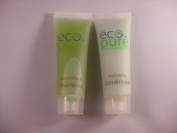 Eco Pure Nourishing Shampoo and Hydrating Conditioner Lot of 18 (9 of each) 30ml Bottles