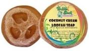 Hawaiian Bubble Shack Loofah Glycerin Soap Coconut 4 Bars