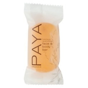 Paya Organics 35ml Face and Body Soap (Bar) with Orange Peel, Individually Flo-wrapped, 288 Bars per Case