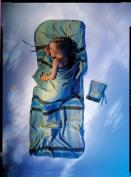 Cocoon KidSack cotton/flannel, african rainbow beige/blue sleeping bag