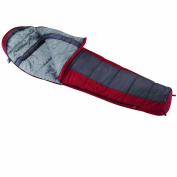 Wenzel Windy Pass 4 Season Mummy Sleeping Bag (-18c) Red/Grey