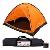 Milestone Camping Dome Four Person Tent - Orange
