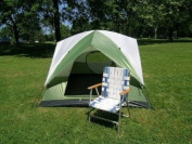Three-Person Camping Dome Tent 2.1m x 2.1m One Touch Set Up