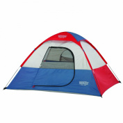 Wenzel Kids Sprout 2 Person Dome Tent - Red/Blue/White, 1.8m x 1.5m