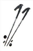 Pair of Trekrite Traveller Compact Four-Section 55cm Walking/ Hiking Poles - Black