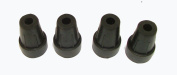 4 x 9mm rubber ferrules suitable for shooting sticks and hiking canes