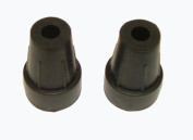 Pair of 9mm rubber ferrule suitable for shooting sticks and hiking canes