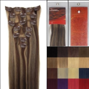 L-email 50cm 7pcs Straight Remy Clip in Real Human Hair Extensions #4-27 Brown/ Golden Blonde Body Care / Beauty Care / Bodycare / BeautyCare