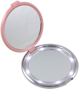 Floxite Fl-360-p 10x Led Lighted Compact With Crystals and Dfp Quality Glass, Pink Body Care / Beauty Care / Bodycare / BeautyCare