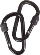 Mil-Com 6mm Screw Gate Locking Carabiners - 2 Pack