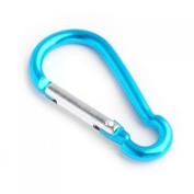 Aluminium Carabiner Camp Snap Hook Keychain Hiking - Blue