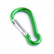 Aluminium Carabiner Camp Snap Hook Keychain Hiking - Green