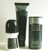 Black Suede 3-Piece Grooming Set - After Shave Conditioner, Anti-Perspirant Deodorant and Talc Powder