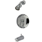 Kingston Brass English Vintage Tub and Shower Faucet, Polished Chrome