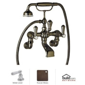 Rohl U.3006LS/1 Georgian Era Floor Mount Exposed Wall Mount Tub Filler Faucet with Hand Shower,, English Bronze