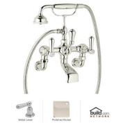 Rohl U.3006LS/1 Georgian Era Floor Mount Exposed Wall Mount Tub Filler Faucet with Hand Shower,, Polished Nickel