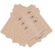 5 x Sheets of Tattoo Tattooing Practise Skins for Needle Machine Supply with Design 20cm X 15cm