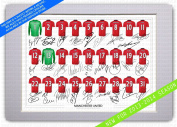 MOUNTED MANCHESTER UNITED SQUAD SIGNED 30cm X 20cm MOUNT WITH PRINTED AUTOGRAPHS PHOTO PRINT PHOTOGRAPH AUTOGRAPHED POSTER JERSEY SHIRT GIFT PRESENT XMAS CHRISTMAS BIRTHDAY NEW FOR 2012-2013 SEASON ROBIN VAN PERSIE WAYNE ROONEY PAUL SCHOLES ..