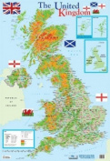 Map Of The United Kingdom Mini Poster 40x60cm