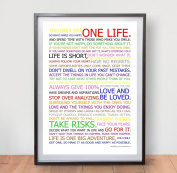 LIFE MANIFESTO POSTER - In Colour - Motivational Quote Wall Art Picture Print - Size A2