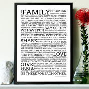 FAMILY PROMISE POSTER - Motivational Quote Print Art Picture - Size A3