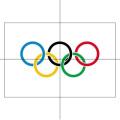 Flag, 1.5m x 0.9m, Olympic