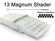 13 MAGNUM SHADER TATTOO NEEDLE 50pc Box Machine Supply