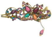 . Lovely Vintage Jewellery Crystal Butterfly Hairpins Hair stick for hair clip Beauty Tools-Colourful