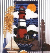 Lighthouse Latch Hook Rug Kit - Latch Hook Kit