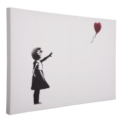 Banksy Girl with Red Balloon Printed Canvas Wall Art Print