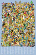 Television Maxi Poster featuring The Complete Cast of The Simpsons American Cartoon Comedy 2012 61x91.5cm