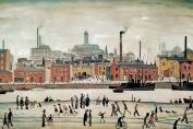 LS Lowry Art Print, Northern River Scene