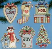 Cross stitch - Design Works Crafts - Country Christmas Ornaments