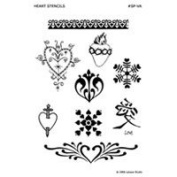 Earth Henna Stencil Pack Hearts & Valentines, Hearts & Valentines 1 unit